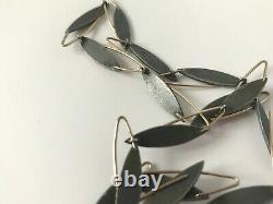 Danish Modernist Gold Silver Jewelry Set Earrings Collier Necklace Jens Aagaard