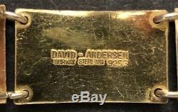 David-Andersen 925S Guilloche Enamel Scandinavian/Norwegian'Scenic Bracelet