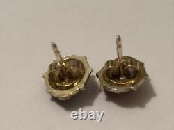 David Andersen 925 S Sterling Silver & Enamel Lady Bug Post Earrings Gold Wash