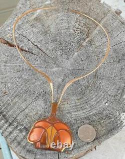 David Andersen, Choker For Unn Tangerud, Copper & Enamel Pendant, Norway