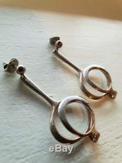 David Andersen Design Earrins 925 S Silver Norway / Norwegian