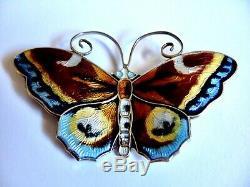 David Andersen Norway 925s Large Enamel Butterfly Pin