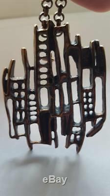 David Andersen Norway Bronze Brutalist brooch UNI D-A, Unn Tangerud DESIGN
