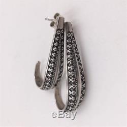 David Andersen Norway Sterling Silver Viking Saga Earrings