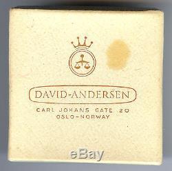 David Andersen Norway Vintage Sterling Blue Enamel Butterfly Pin Brooch In Box