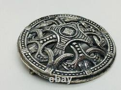 David Andersen Norway Vintage Sterling Silver Saga Series Pin Pendant