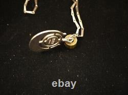 David Andersen Norwegian Mid-Century Modern Sterling Necklace Amazonite Stone