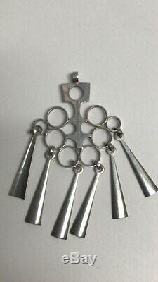 David Andersen Norwegian Sterling Silver 1960's Vintage Pendant