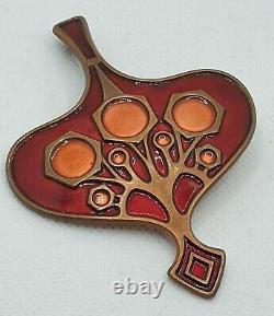 David Andersen Pendant, Des. Unn Tangerud, Copper & Enamel, Norway