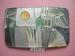 David Andersen RARE Large 925S Sterling Silver Enamel 4 Seasons WINTER Brooch