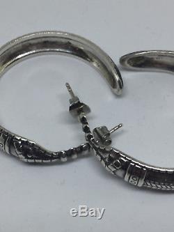 David Andersen Saga Viking Sterling Silver Earrings Norway Norwegian