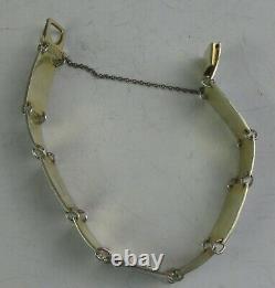 David Andersen Sterling Silver Bracelet Silver And Enamel