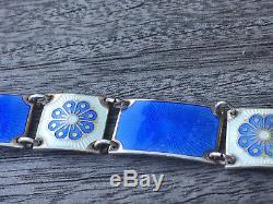 David Andersen Sterling Silver Enamel Bracelet Norway Norwegian