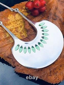 David Andersen Sterling Silver Enamel Iconic necklace Norway Norwegian