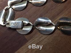 David Andersen Sterling Silver Enamel Necklace Norway Norwegian