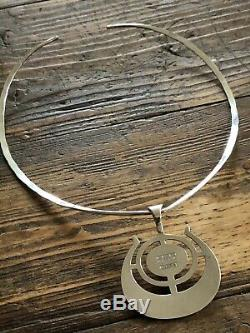 David Andersen Sterling Silver Ostern Pendant D-A Neck Ring Norway Norwegian