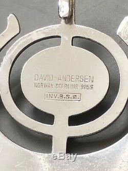 David Andersen Sterling Silver Pendant Bjorn S Ostern Norway Norwegian