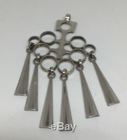 David Andersen Sterling Silver Pendant Norway Norwegian Mid century