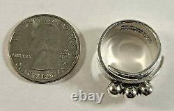 David Andersen Sterling Silver Ring Adjustable Norway Norwegian 925