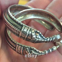 David Andersen Sterling Silver Viking Saga Earrings Norway Norwegian