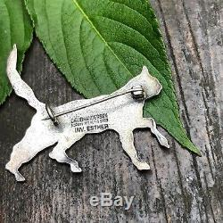David Andersen Sterling Silver brooch Norway Norwegian Yre dyr Esther for D-A