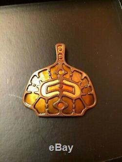 David Andersen, Unn Tangerud, Copper & Enamel Pendant, Norway