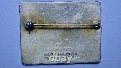 David Andersen Vintage Jewelry Sterling Enamel Spring Seasons Pin & Earrings