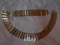 David Andersen Vintage Necklace & Bracelet Sterling Silver Black White Enamel