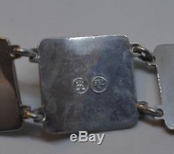 David Andersen Vintage Norwegian Silver Fairytale Bracelet 830S Silver BEAUTIFUL
