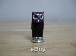 David Andersen Vintage Owl Salt / Pepper Shaker Enamel Sterling Silver