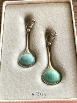 David Andersen Willy Winaess 925 Sterling silver Earrings Norway Amazonite