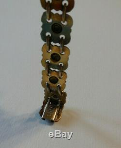 David Andersen Willy Winnaess Flower Sterling Enamel Choker Bracelet Earrings