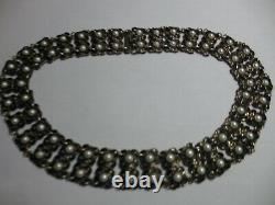 David Andersen/Willy Winnaess NORWAY Sterling BLACK&WHITE GUILLOCHE NECKLACE-NR