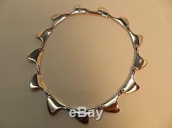 Denmark Bent Knudsen Sterling Silver Shark Fin Necklace and Earrings