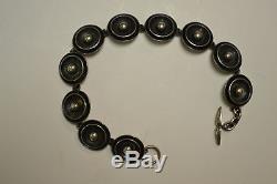 Denmark Mid Century Modern Sterling Bracelet 7.75 By N. E. From. 1950s
