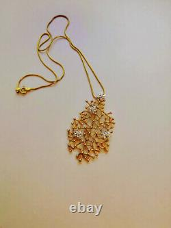 Desing Jewerly Tapio Wirkkala Finland Gold Plated Silver Necklace'Starry Sky'+