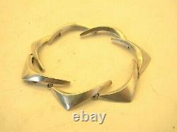 Eigil Jensen Anton Michelsen Sterling Silver Bracelet Danish Modernist Wing 28g