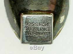 Einar Modahl Mid-century Norwegian Sterling Silver Bracelet Guilloche Enamel -bo