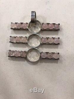 Elis Kauppi Rose Quartz Kupittaan Kulta FInland Mid Century Modern Silver 925
