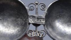 Enamel Filigree Norwegian Sterling Silver 925s Solje Brooch Olso Beautiful