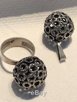 Erik Granit Sterling Silver ring Pendant Finland