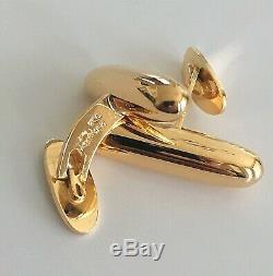 Estate Unworn Large Georg Jensen #910 Denmark 18K Gold Cufflinks 16 Grams