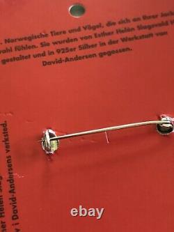 Esther Slagsvold Vintage David Andersen Sterling Silver brooch Norway yre dyr