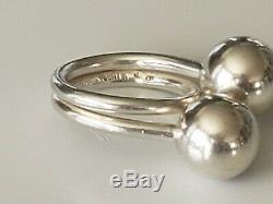 FANTASTIC Vntg Solid Sterling Denmark Bent Knudsen 1960s Orbs Ring BENT K EUC