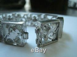 FINLAND. 830 Silver ANIMAL Bracelet MODERNIST EUROPE Scandinavian NORDIC