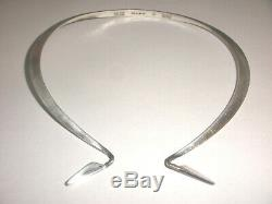 Finland 1970`s Kalevala Koru modernist collar choker necklace sterling silver