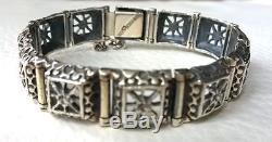 Finland Beautiful Vintage 60s Finnish Modernist Pentti Sarpaneva Silver Bracelet