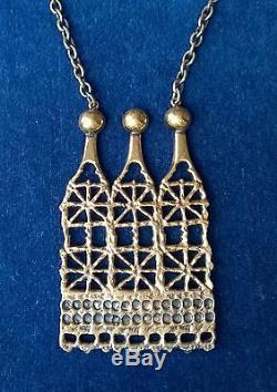 Finland Pentti Sarpaneva Fabulous Vintage Bronze Necklace Pitsi BIG