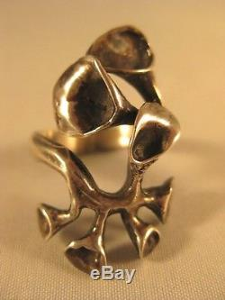 Finland Sterling MODERN FREE FORM RING Silver Size 7