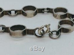 Finland Vintage 830 Sterling Silver Modernist Bracelet